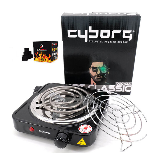 Cyborg Hookah - charcoal lighter Hot Classic including...