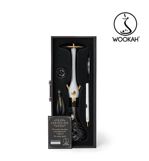 WOOKAH 24K Gold Plated Set Black White Nox Check
